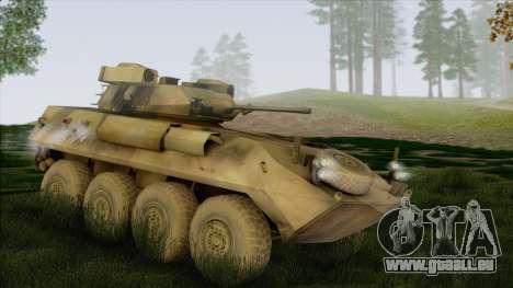 Camouflage forêt LAV-25 pour GTA San Andreas laissé vue