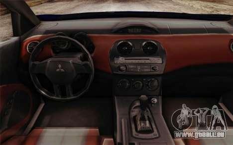 Mitsubishi Eclipse GT v2 für GTA San Andreas rechten Ansicht