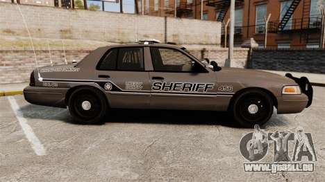 Ford Crown Victoria 2008 Sheriff Patrol [ELS] für GTA 4 linke Ansicht