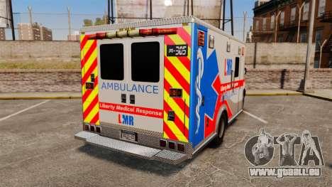 Brute Liberty Ambulance [ELS] pour GTA 4 Vue arrière de la gauche