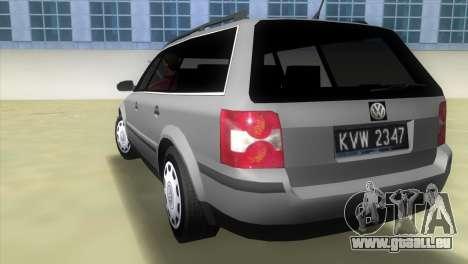 Volkswagen Passat B5+ Variant 1.9 TDi pour GTA Vice City sur la vue arrière gauche
