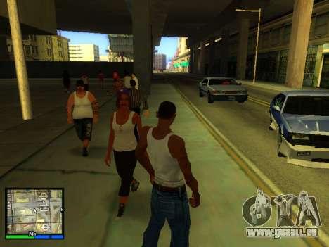 Pak peaux les filles pour GTA San Andreas huitième écran
