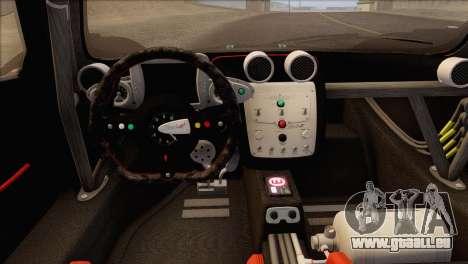 Pagani Zonda R SPS v3.0 Final pour GTA San Andreas vue intérieure