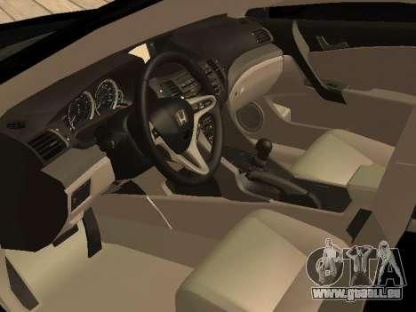 Honda Accord 2010 V2.0 pour GTA San Andreas vue de droite
