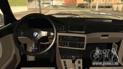 BMW M5 E28 pour GTA San Andreas vue arrière
