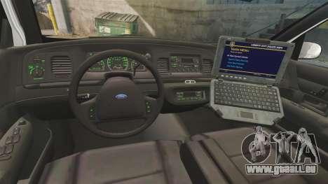 Ford Crown Victoria 1999 U.S. Border Patrol für GTA 4 Rückansicht