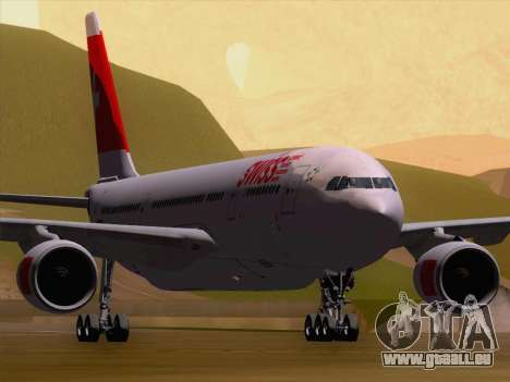 Airbus A330-223 Swiss International Airlines pour GTA San Andreas laissé vue