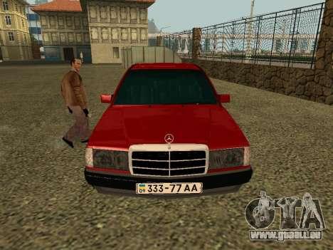Mercedes-Benz 190E für GTA San Andreas rechten Ansicht