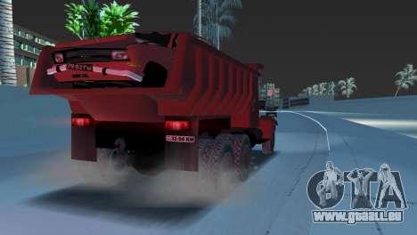 Camion à benne basculante KrAZ 255 pour une vue GTA Vice City de la droite