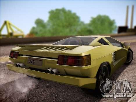 Cizeta Moroder V16T 1988 pour GTA San Andreas laissé vue