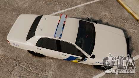 GTA V Vapid State Police Cruiser [ELS] pour GTA 4 est un droit