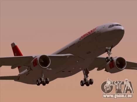 Airbus A330-223 Swiss International Airlines für GTA San Andreas obere Ansicht