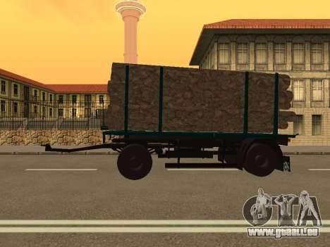 Trailer für MAZ 6430 für GTA San Andreas linke Ansicht