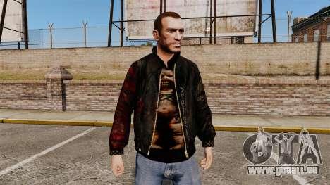 Schwarze Jacke aus recyceltem Leder für GTA 4