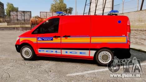 Mercedes-Benz Vito Metropolitan Police [ELS] pour GTA 4 est une gauche