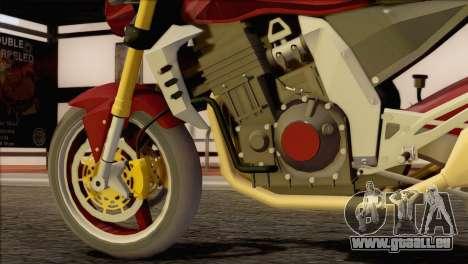 Kawasaki Z1000 pour GTA San Andreas vue de droite