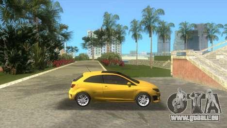 Seat Ibiza Cupra pour une vue GTA Vice City de la gauche