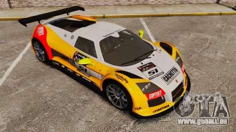 Gumpert Apollo S 2011 pour GTA 4 est une vue de dessous