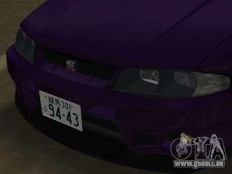 Nissan SKyline GT-R BNR33 für GTA Vice City Seitenansicht