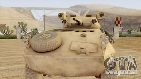 LAV-25 Desert Camo pour GTA San Andreas sur la vue arrière gauche