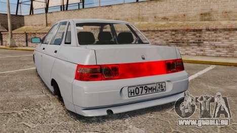 Vaz-2110 pour GTA 4 Vue arrière de la gauche