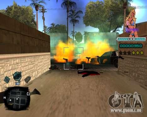 C-HUD Quintero pour GTA San Andreas troisième écran