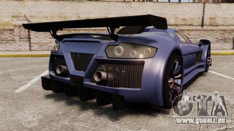 Gumpert Apollo S 2011 für GTA 4 hinten links Ansicht