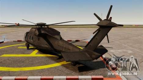 Sikorsky MH-X Silent Hawk [EPM] pour GTA 4 Vue arrière de la gauche