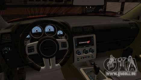 Dodge Challenger SRT8 2012 HEMI pour GTA San Andreas vue de droite