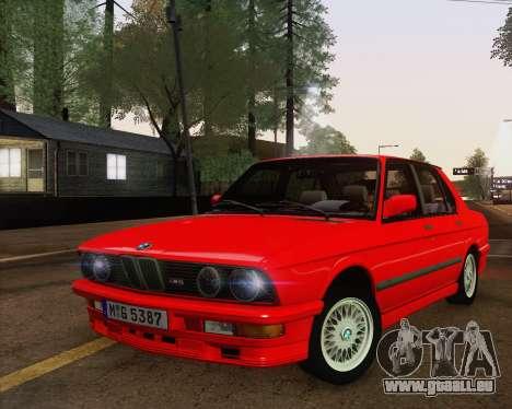 BMW M5 E28 für GTA San Andreas Innenansicht