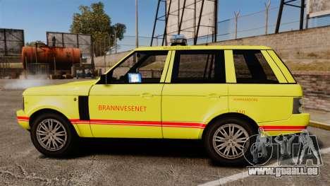 Range Rover Vogue Brannvesenet für GTA 4 linke Ansicht