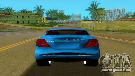 Mercedes-Benz SLR McLaren pour GTA Vice City vue arrière