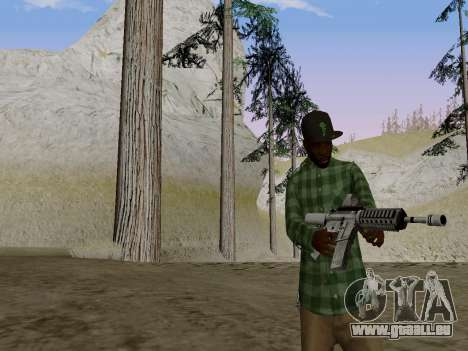 Le membre de gang de Grove Street de GTA 5 pour GTA San Andreas deuxième écran