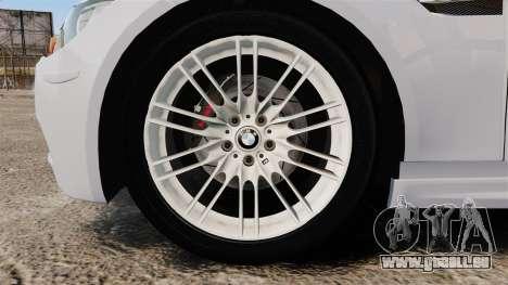 BMW M3 Unmarked Police [ELS] pour GTA 4 Vue arrière