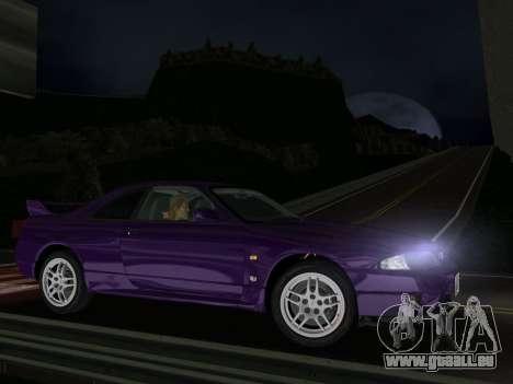 Nissan SKyline GT-R BNR33 für GTA Vice City linke Ansicht