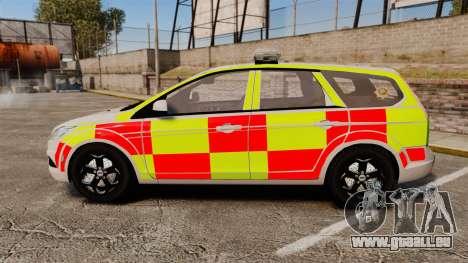 Ford Focus Estate 2009 Fire Car England [ELS] pour GTA 4 est une gauche