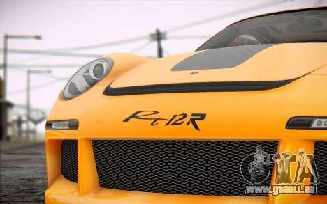RUF RT12R pour GTA San Andreas vue arrière