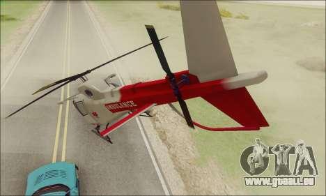 GTA V Ambulacia Maverick pour GTA San Andreas vue de droite