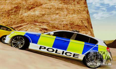 BMW 120i SE Police pour GTA San Andreas vue de dessus