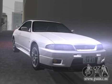 Nissan SKyline GT-R BNR33 pour GTA Vice City vue de dessous