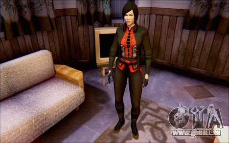 Lady Shiva dans le jeu Batman Arkham origines pour GTA San Andreas deuxième écran