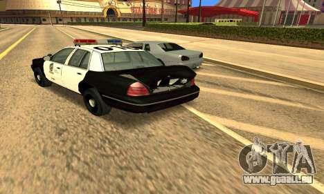 Ford Crown Victoria Police LV für GTA San Andreas obere Ansicht