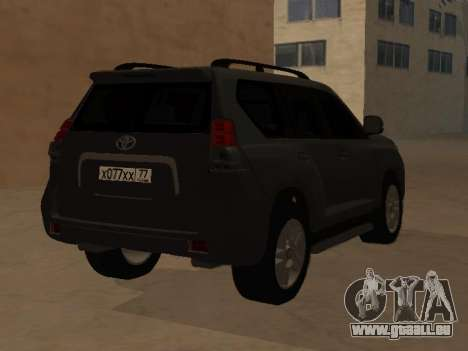 Toyota Land Cruiser Prado 2012 pour GTA San Andreas laissé vue