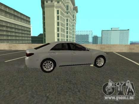 Toyota Mark X für GTA San Andreas Rückansicht