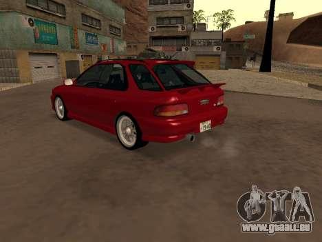 Subaru Impreza Wagon für GTA San Andreas zurück linke Ansicht