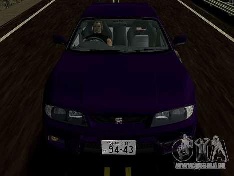 Nissan SKyline GT-R BNR33 pour GTA Vice City sur la vue arrière gauche