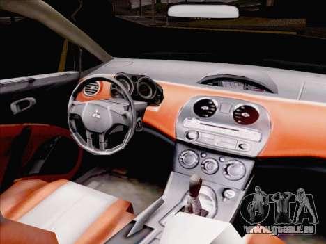 Mitsubishi Eclipse v4 pour GTA San Andreas vue intérieure