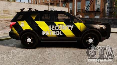 Ford Explorer 2013 Security Patrol [ELS] für GTA 4 linke Ansicht