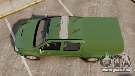 Toyota Hilux Finnish Military Police [ELS] für GTA 4 rechte Ansicht