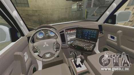 Mitsubishi Pajero Finnish Police [ELS] pour GTA 4 est une vue de l'intérieur